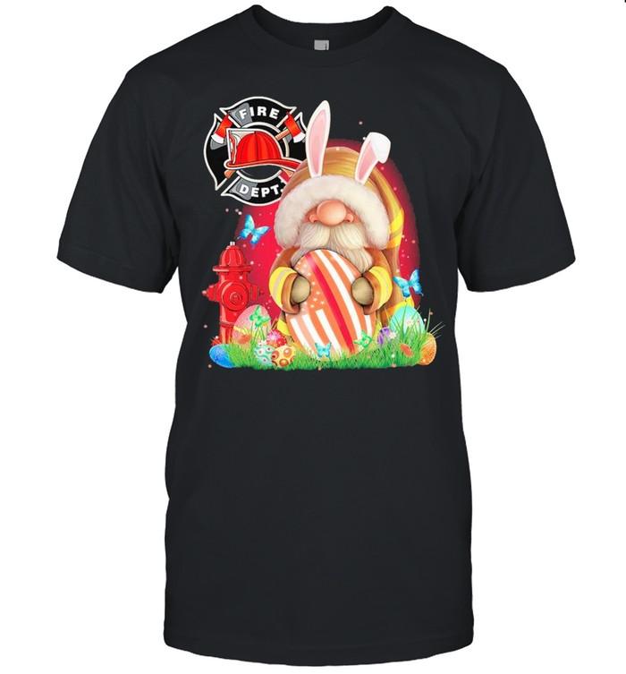 Firefighter Gnome Hug Easter Egg Happy Easter Day shirt Classic Men's T-shirt