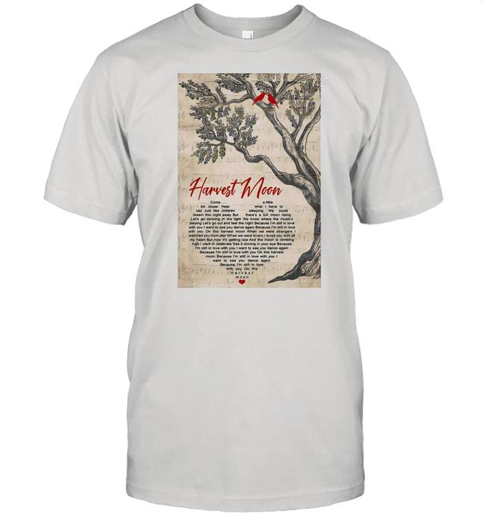 Harvest Moon Heart Song Lyric Print T-shirt Classic Men's T-shirt
