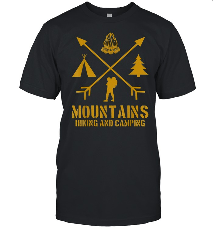Mountains Hiking And Camping Outdoors Wilderness Lifestyle shirt Classic Men's T-shirt