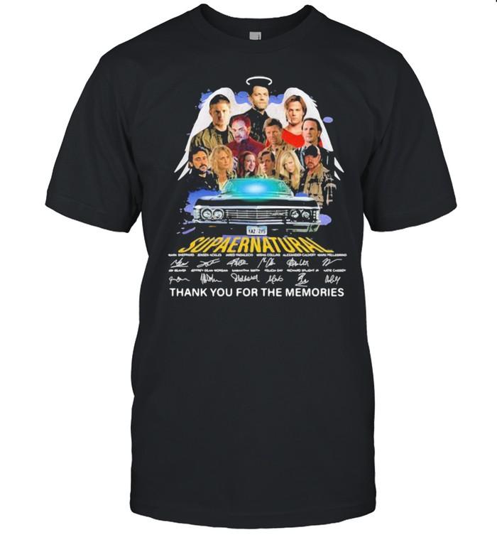 Supernatural Legends Thank You For The Memories Signature  Classic Men's T-shirt