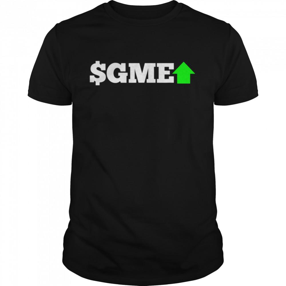 GME Green Arrow Up 2021 Stonks Stock Market Meme shirt Classic Men's T-shirt