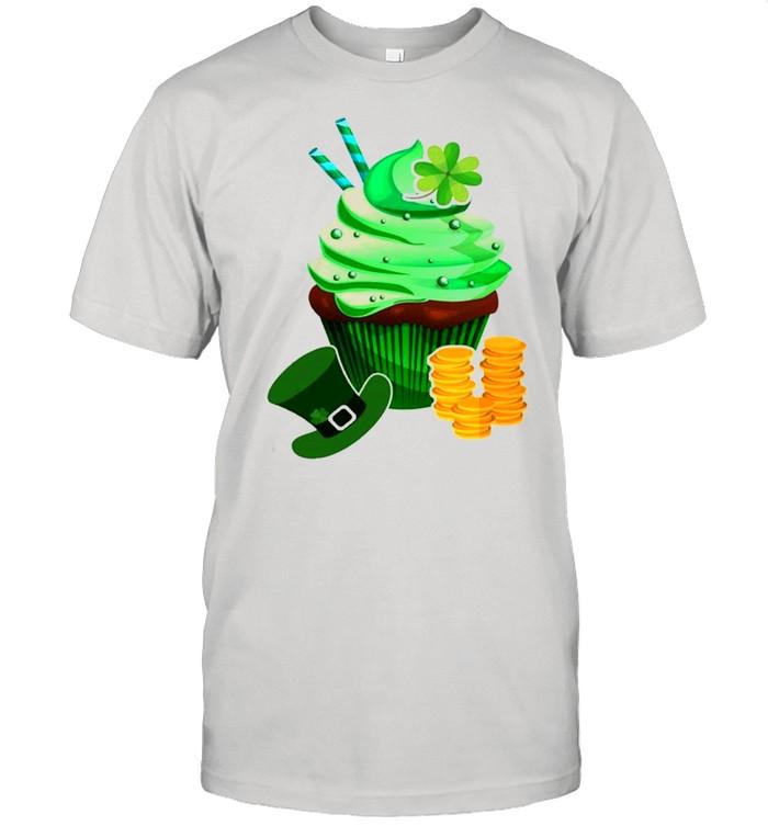 St Patrick's Day Cute Cupcake  Classic Men's T-shirt