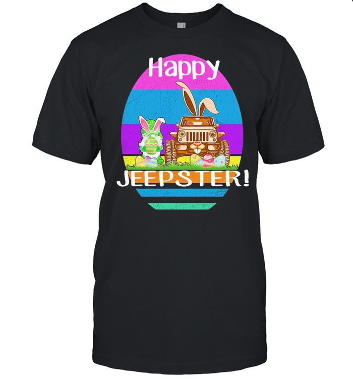 Gnome And Jeep Happy Jeepster Easter shirt Classic Men's T-shirt