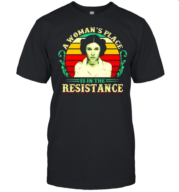 A woman's place is in the resistance vintage shirt Classic Men's T-shirt