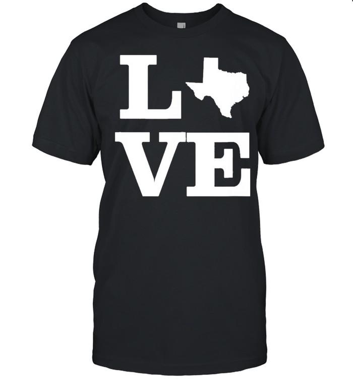 Texas Love Design State Outline Texas Home Classic shirt Classic Men's T-shirt