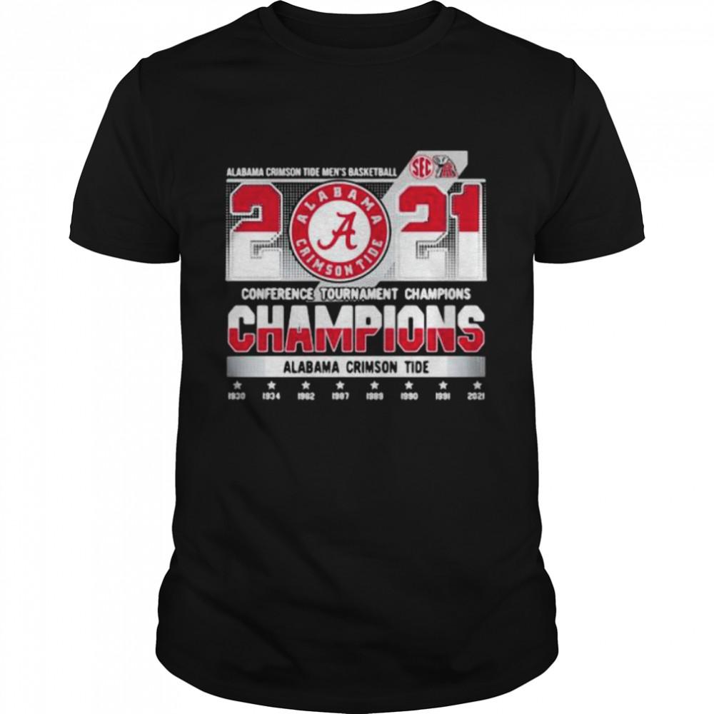 2021 Conference Tournament Champions Alabama Crimson Tide  Classic Men's T-shirt