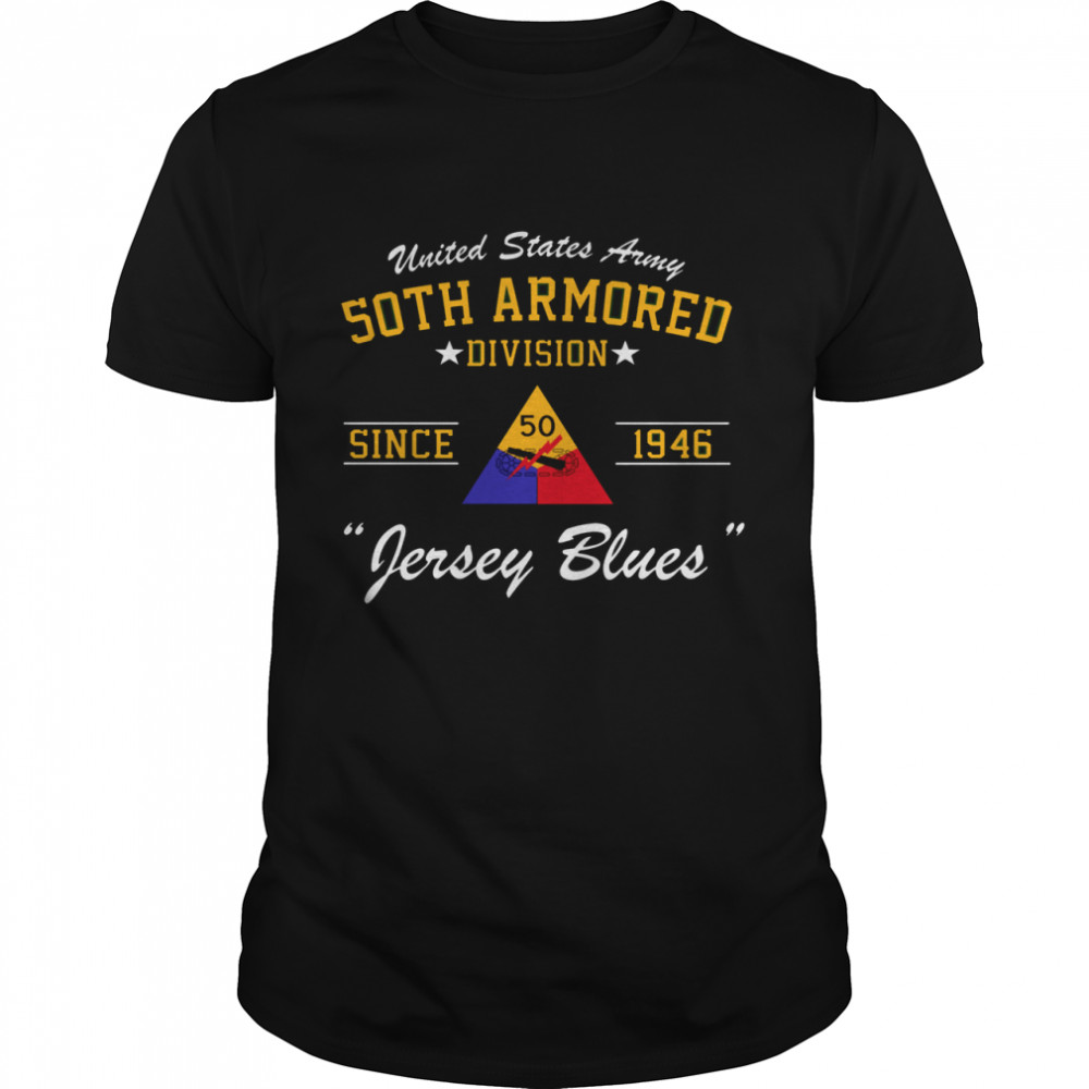 50th Armored Division Langarmshirt shirt Classic Men's T-shirt