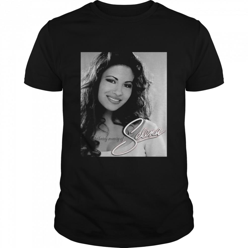 Black White Selenas Quintanilla Love Music Signature Shirt