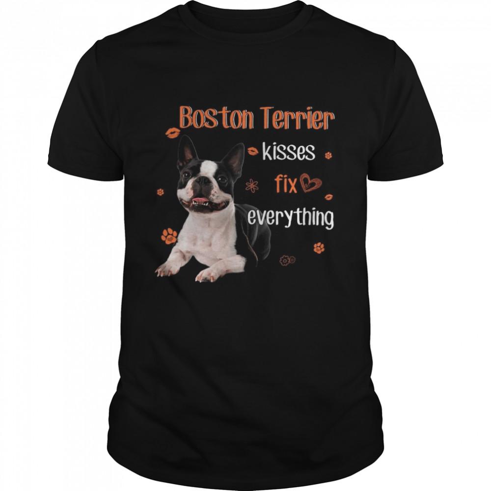 Boston Terrier Kisses Fix Everything shirt Classic Men's T-shirt