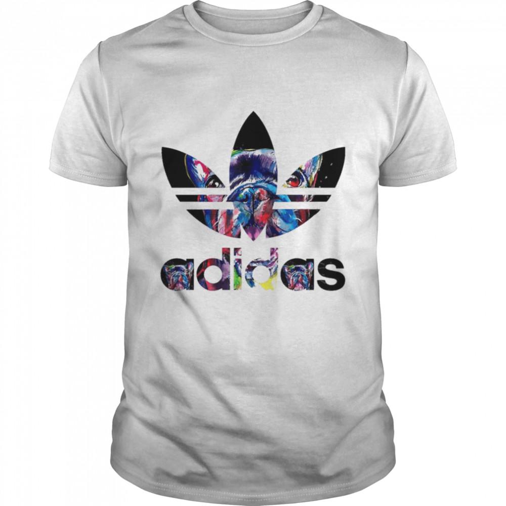 French Bulldogs With Adidas Logo shirt Classic Men's T-shirt