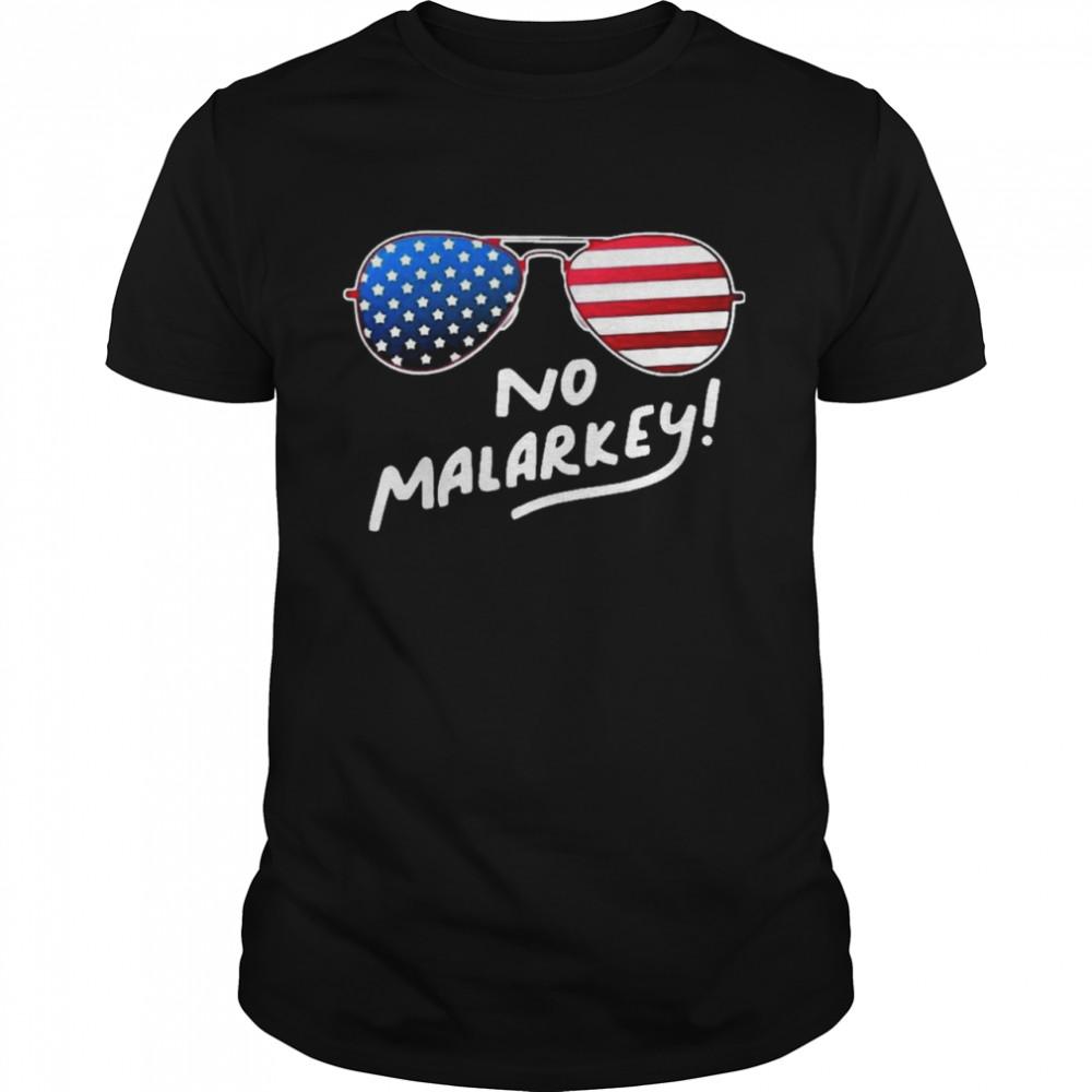 Glasses American flag no malarkey shirt Classic Men's T-shirt