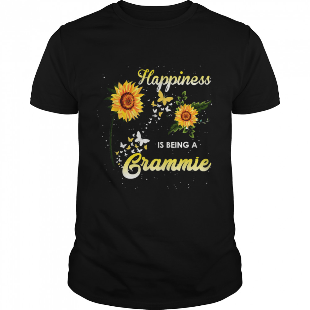 HAPPINESS IS BEING A Grammie Sunflowers shirt Classic Men's T-shirt
