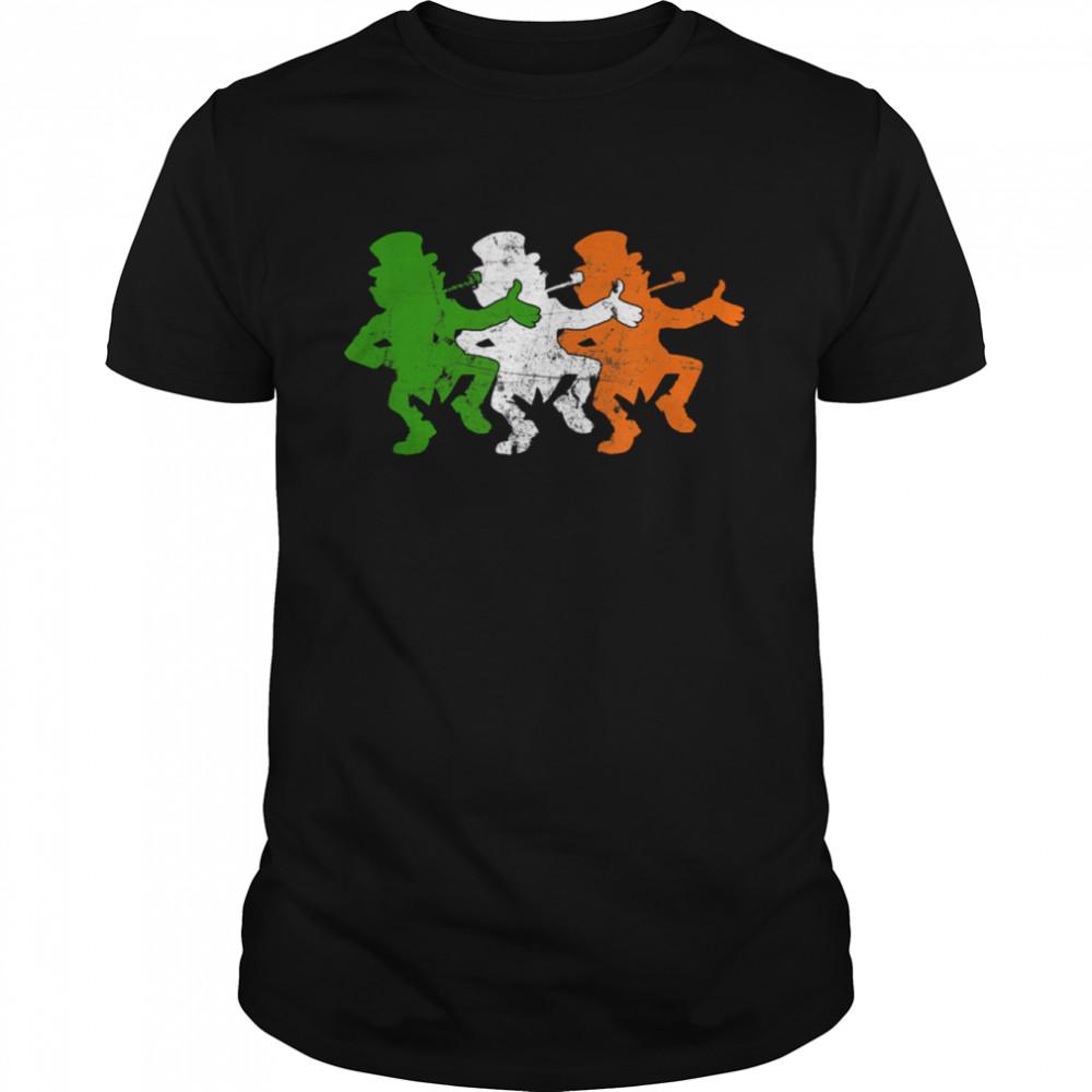 Leprechaun Irish Flag Colors Ireland Ancestry Festive Family shirt Classic Men's T-shirt
