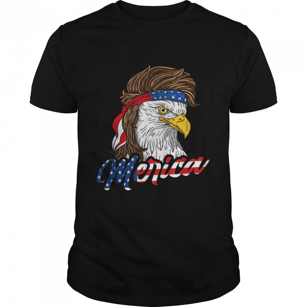 Merica America Patriotic USA Eagle Of Freedom 4th of July shirt Classic Men's T-shirt