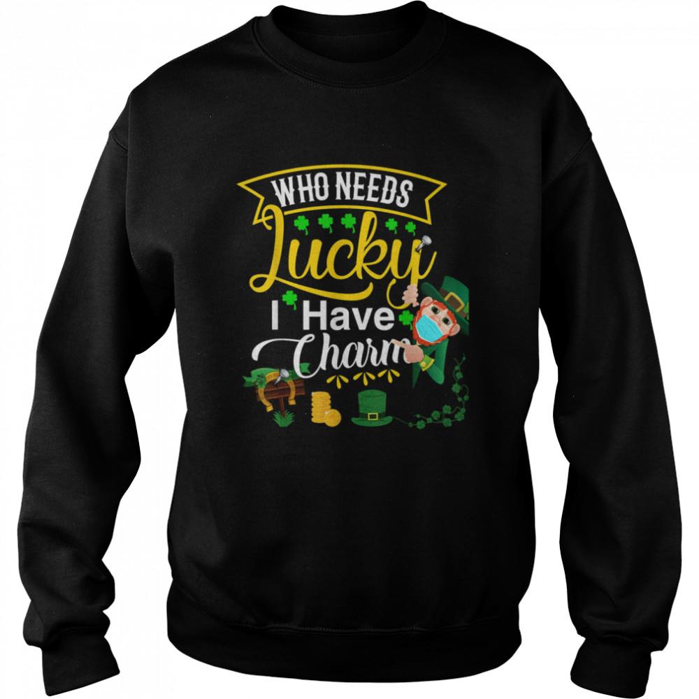 My Lucky Charm St Patricks Day Matching Couple Shamrock shirt Unisex Sweatshirt