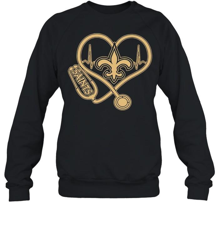 New Orleans Saints Football Stethoscope Heart shirt Unisex Sweatshirt