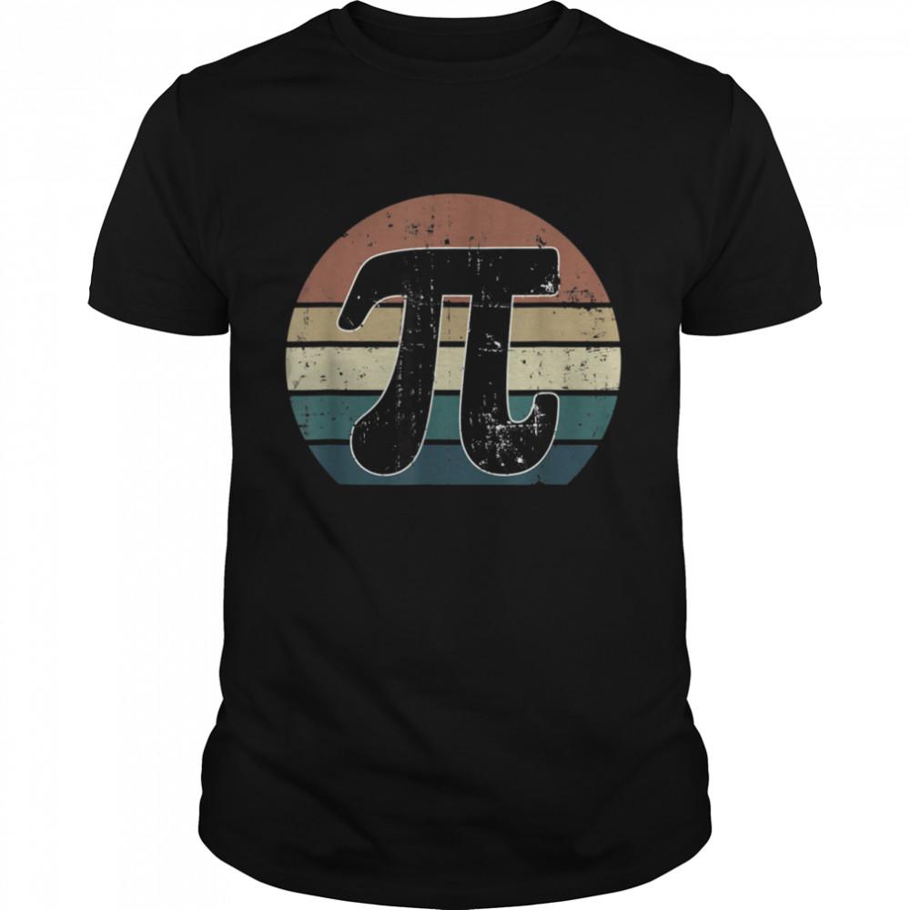 Pi Day Retro Vintage Math Geek Teacher Student shirt Classic Men's T-shirt