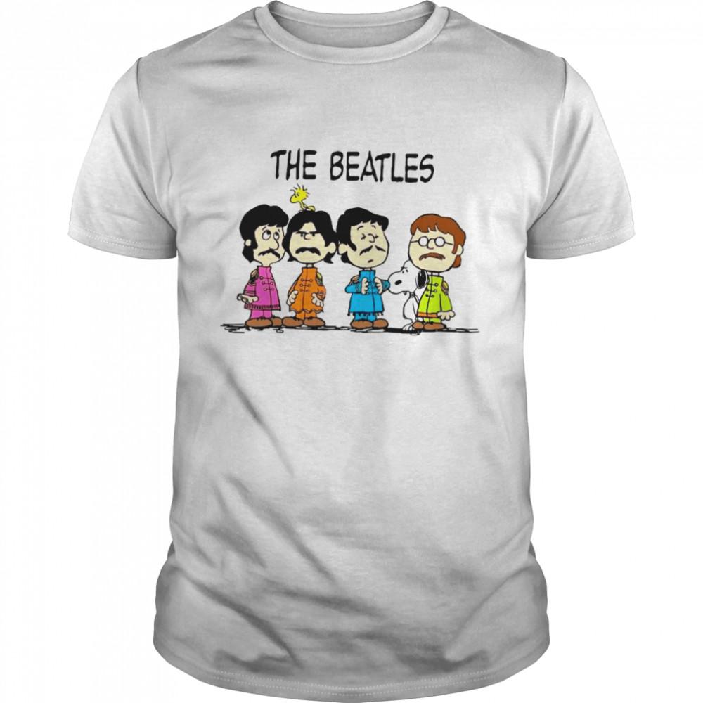Snoopy Woodstock And The Beatles Chibi shirt Classic Men's T-shirt