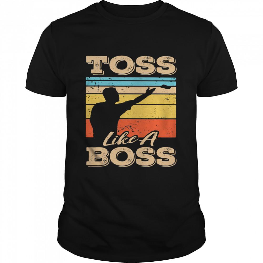 Toss Like A Boss Cornhole Vintage  Classic Men's T-shirt