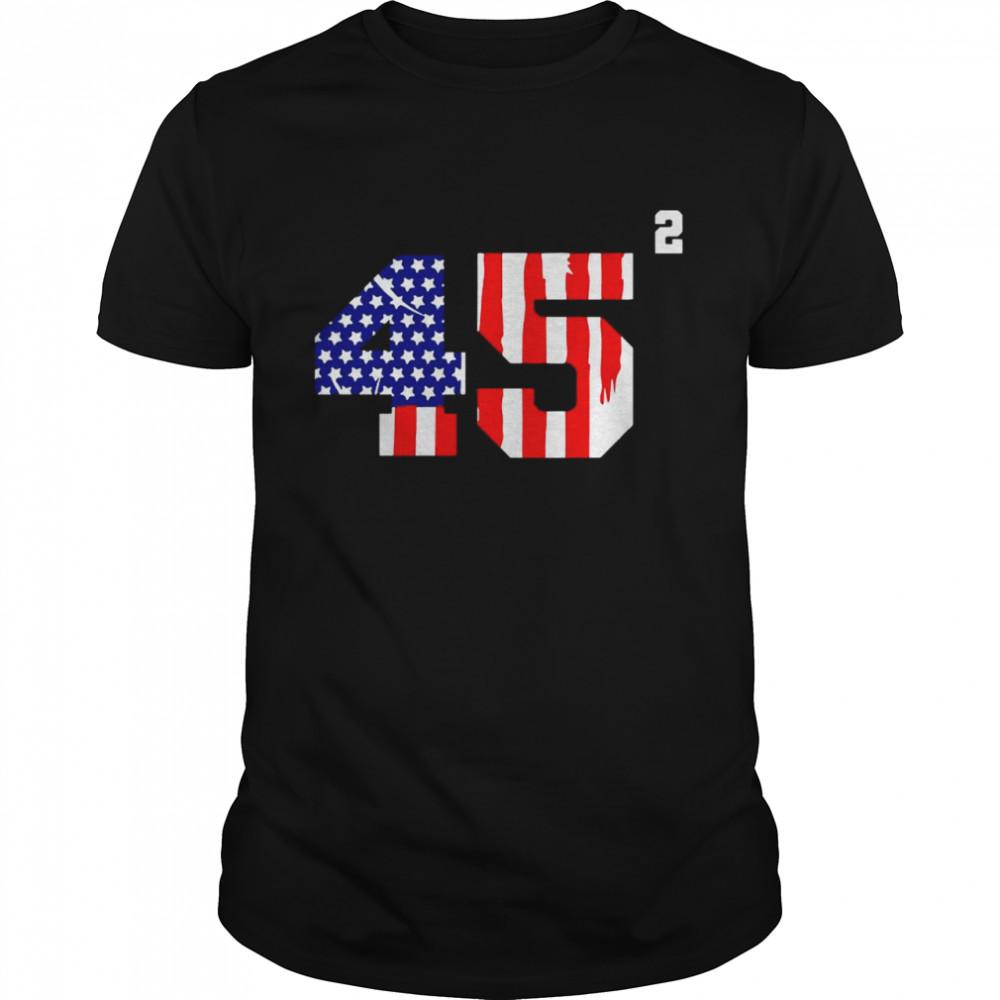 Trump 2024 45 Squared Second Team USA shirt Classic Men's T-shirt