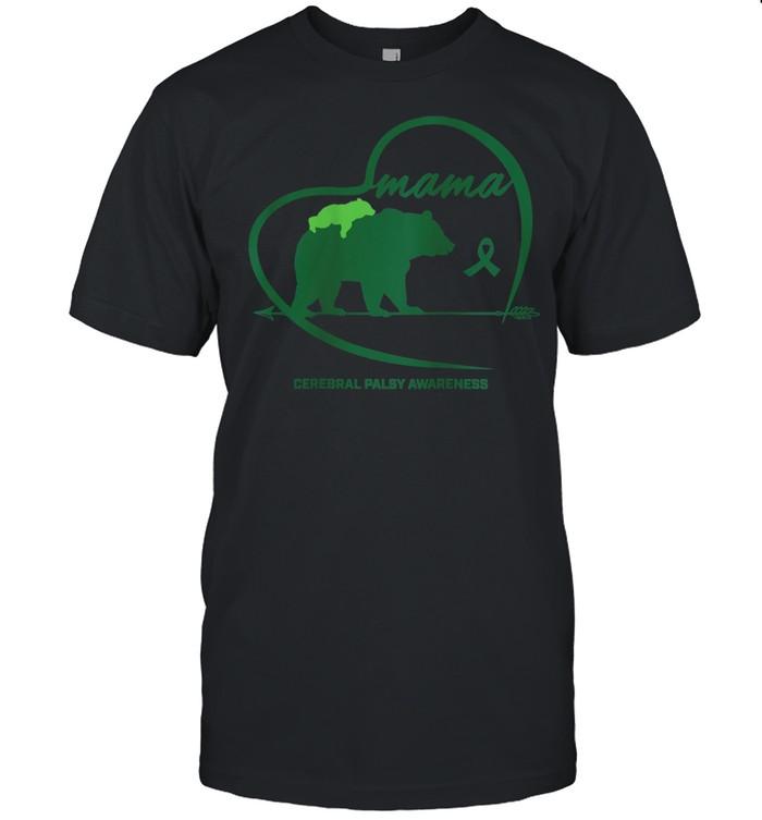 CP Mom Mama Bear Green Ribbon Cerebral Palsy Awareness Mom shirt Classic Men's T-shirt