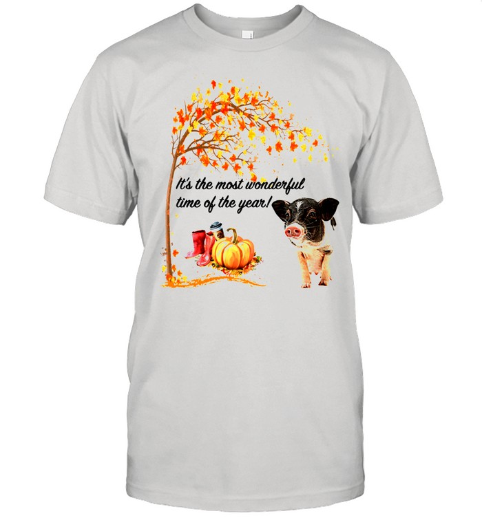 It's The Most Wonderful Time Of The Year Pig Autumn Fall shirt Classic Men's T-shirt