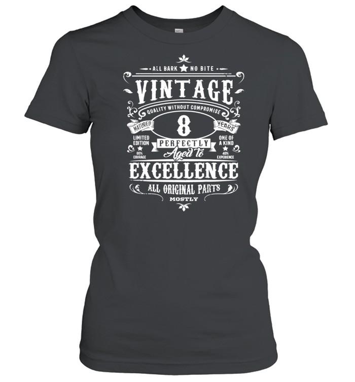 Kids Vintage 8th Birthday Girl Boys Age 8 Year Old 2012 shirt Classic Women's T-shirt
