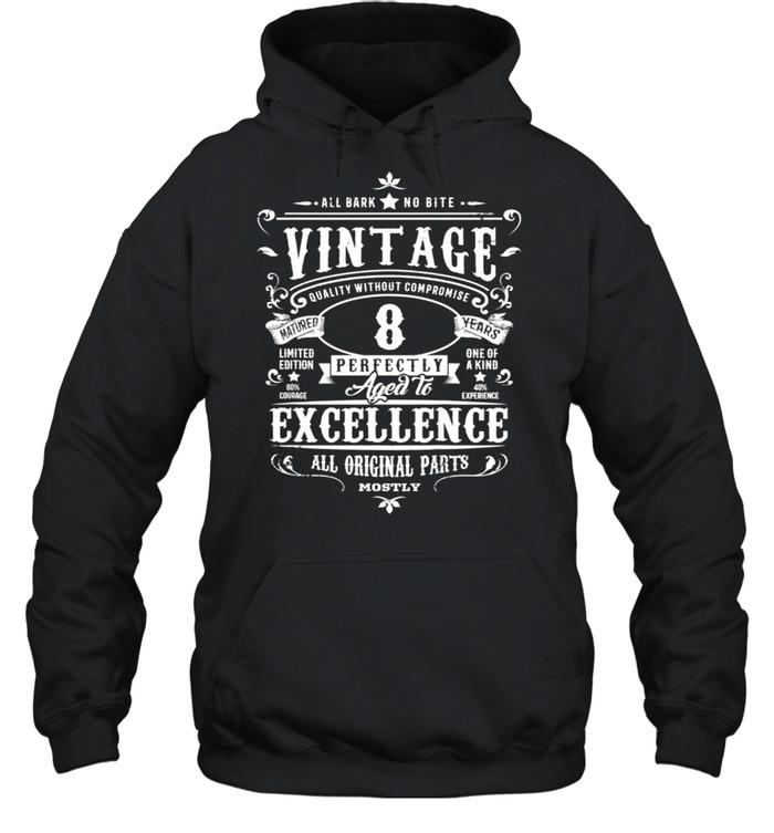 Kids Vintage 8th Birthday Girl Boys Age 8 Year Old 2012 shirt Unisex Hoodie