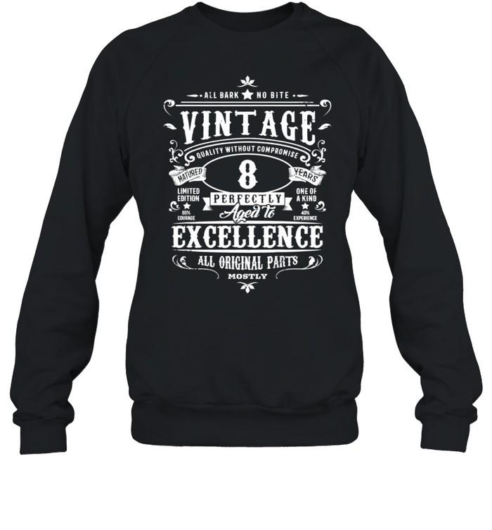 Kids Vintage 8th Birthday Girl Boys Age 8 Year Old 2012 shirt Unisex Sweatshirt