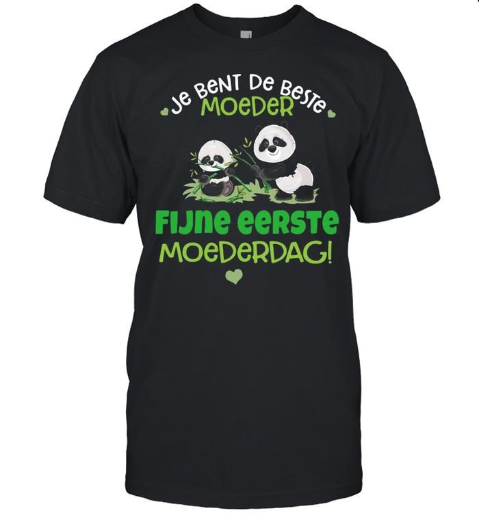 Panda Je Bent De Beste Moeder Fijne Eerste Moederdag T-shirt Classic Men's T-shirt
