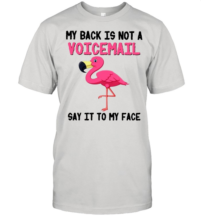Flamingo Say It To My Face Birds Lovers  Classic Men's T-shirt