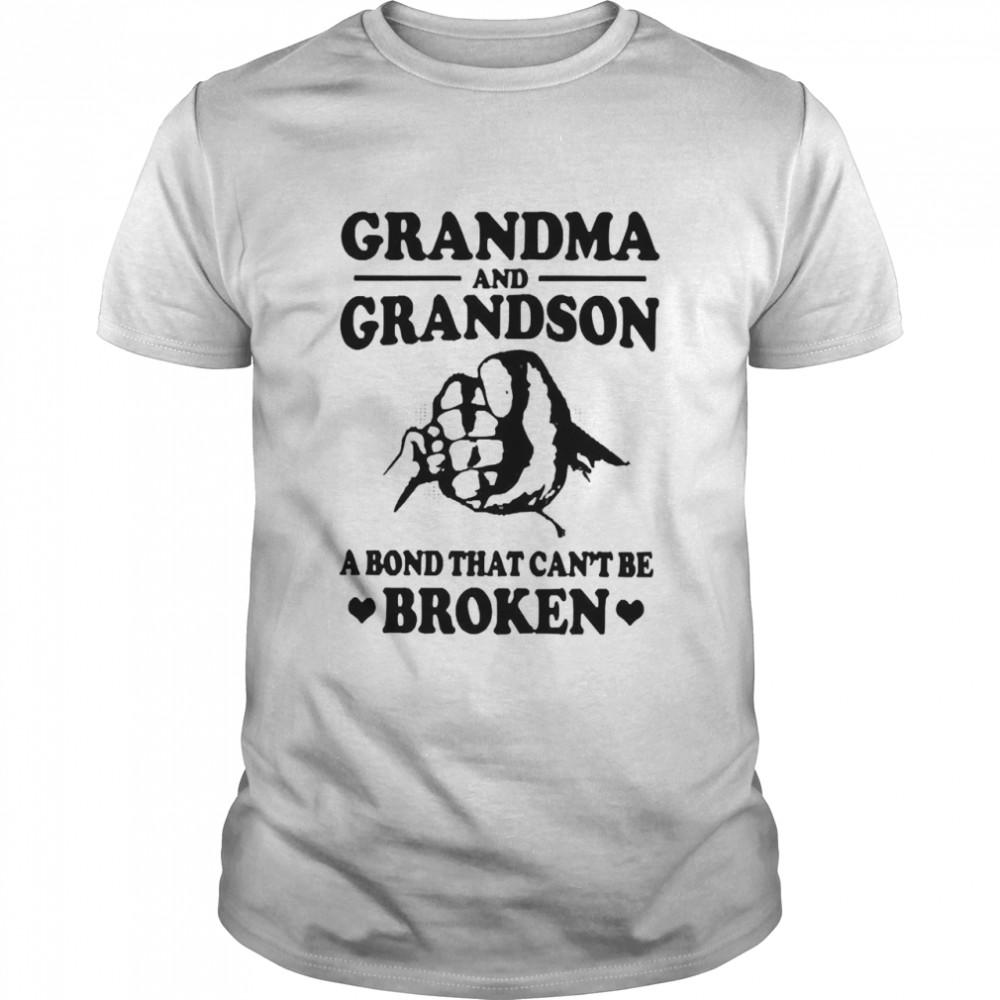 Grandma and grandson a bond that cant be broken shirt Classic Men's T-shirt