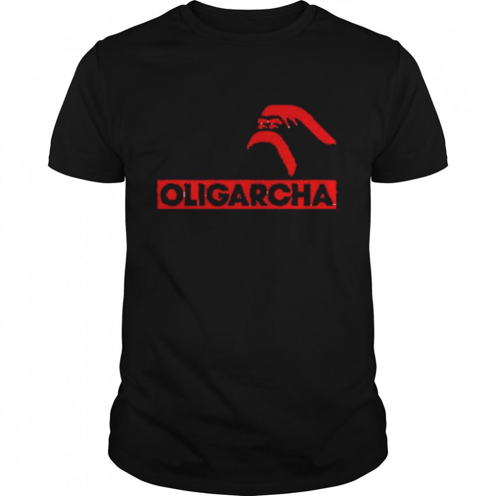 Oligarcha Biala Koszulka Meska  Classic Men's T-shirt