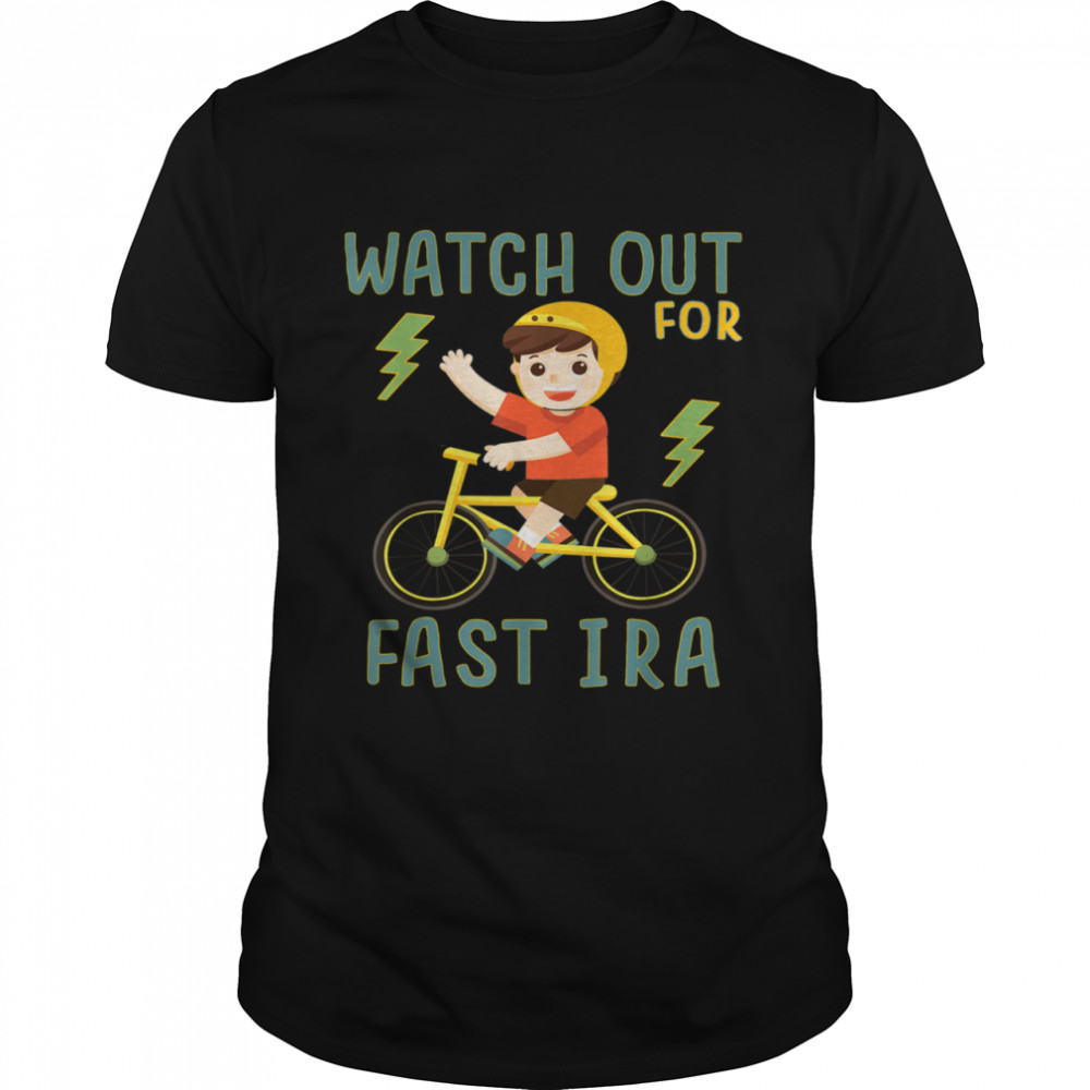Watch Out for Fast Ira Boy on Bike Bicycle shirt Classic Men's T-shirt