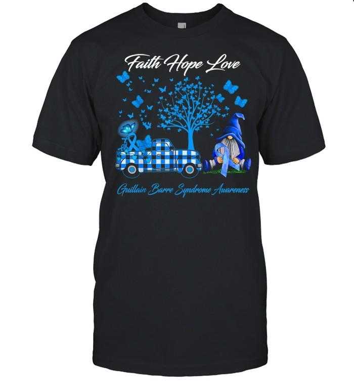 Faith Hope Love Guillain Barre Syndrome Awareness shirt Classic Men's T-shirt