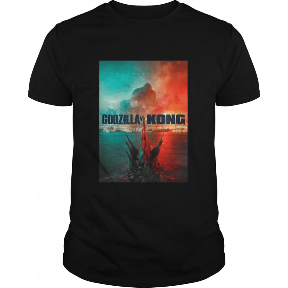 Godzilla vs King Kong One Will fall 2021 shirt Classic Men's T-shirt