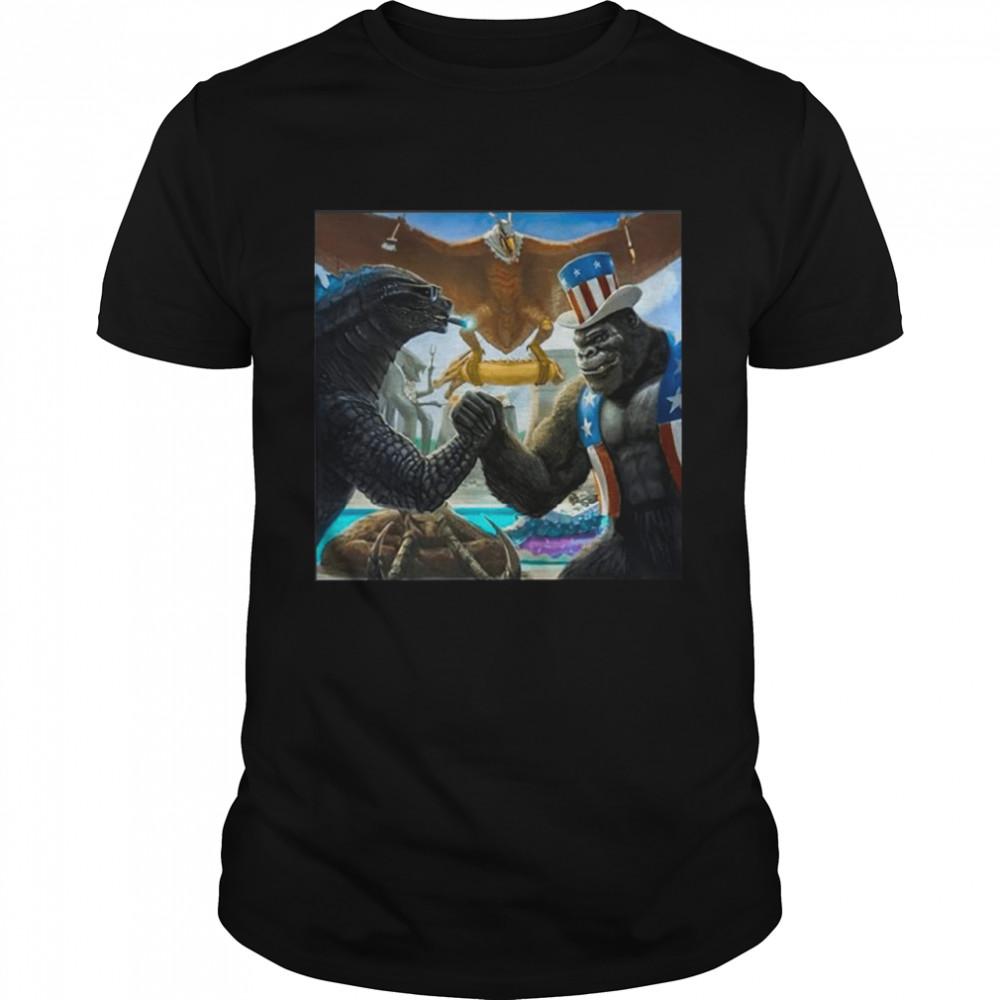 Godzilla Vs Kong Happy 4th Fellow Alphas shirt Classic Men's T-shirt