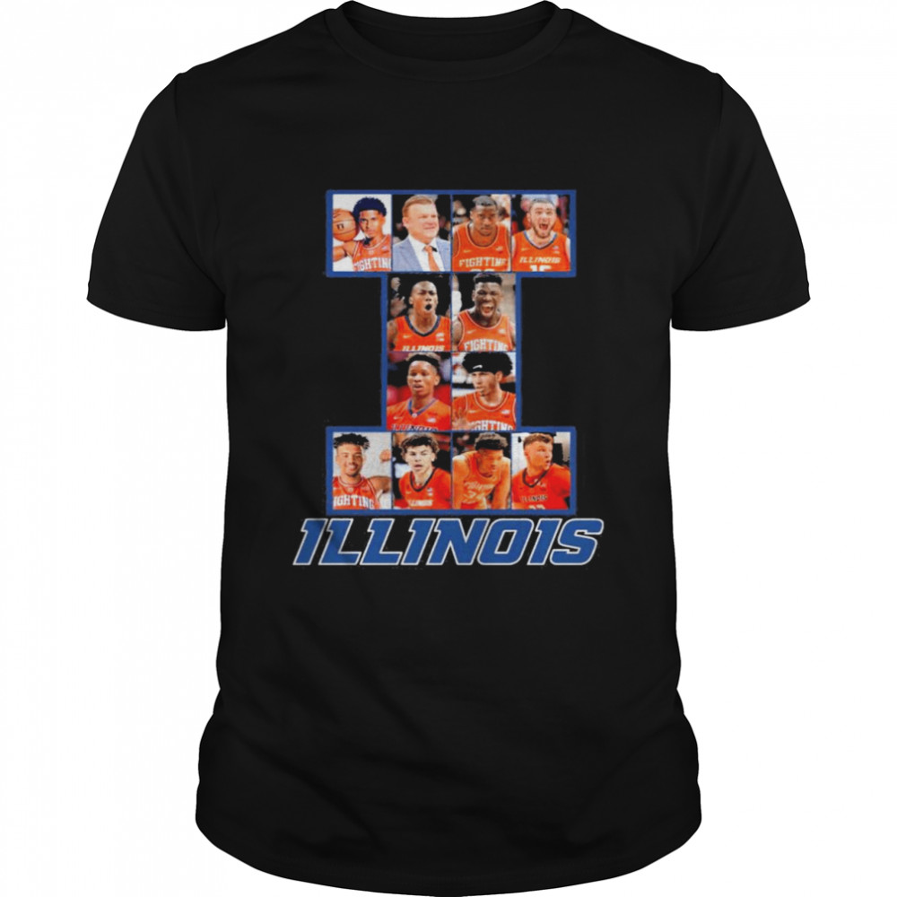 Illinois Basketball Team Player 2021  Classic Men's T-shirt