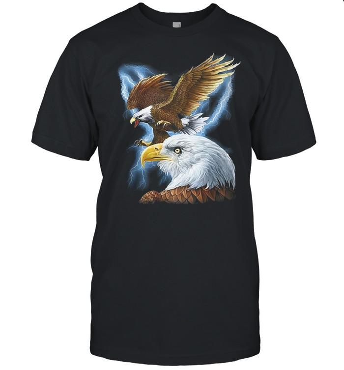 Majestic eagle and lightning shirt Classic Men's T-shirt