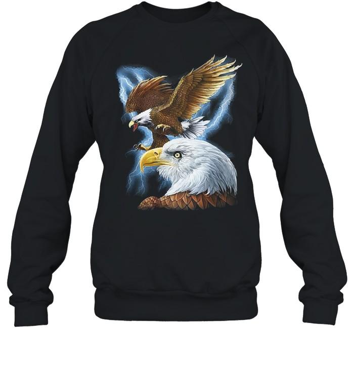 Majestic eagle and lightning shirt Unisex Sweatshirt