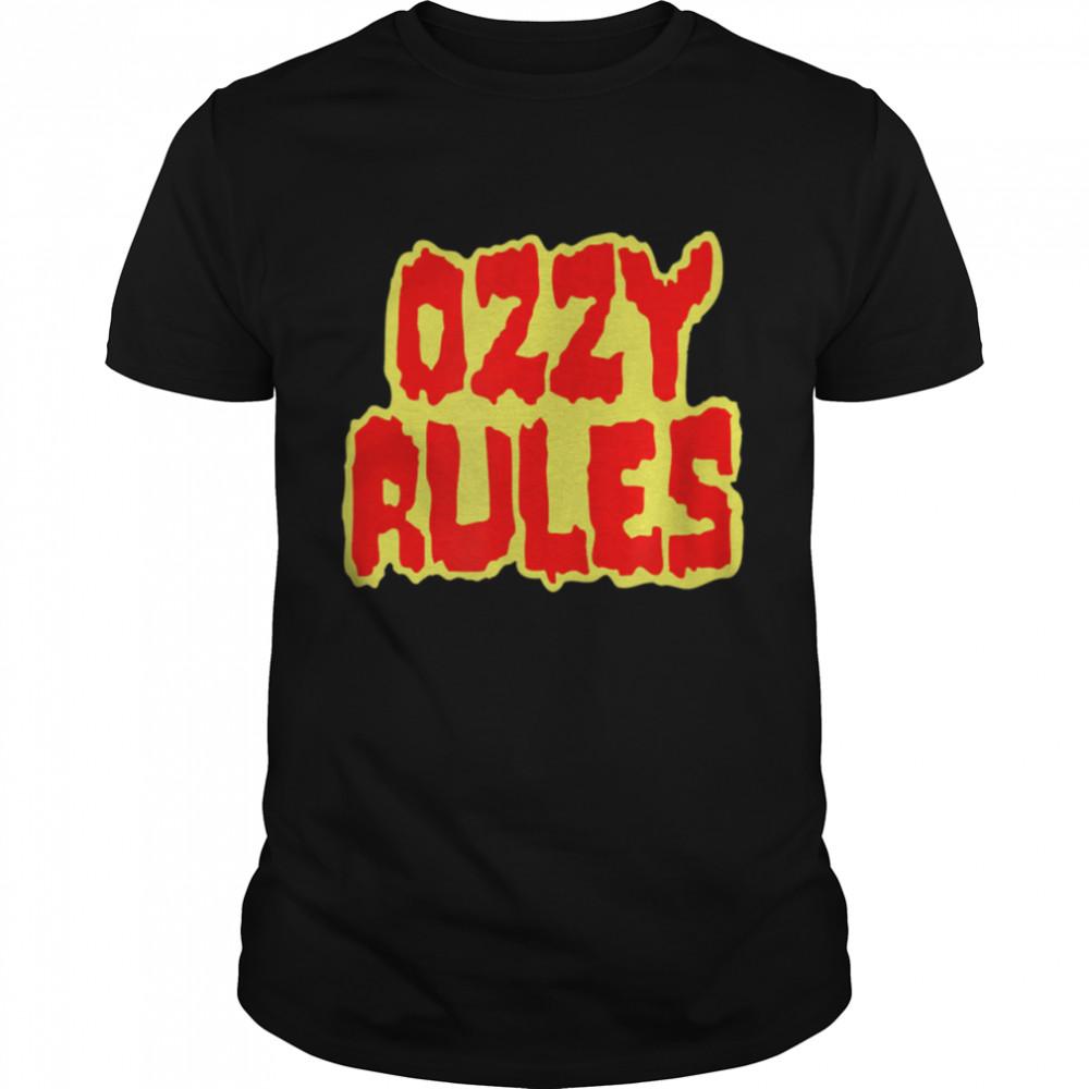 Ozzy Osbourne Ozzy Rules  Classic Men's T-shirt