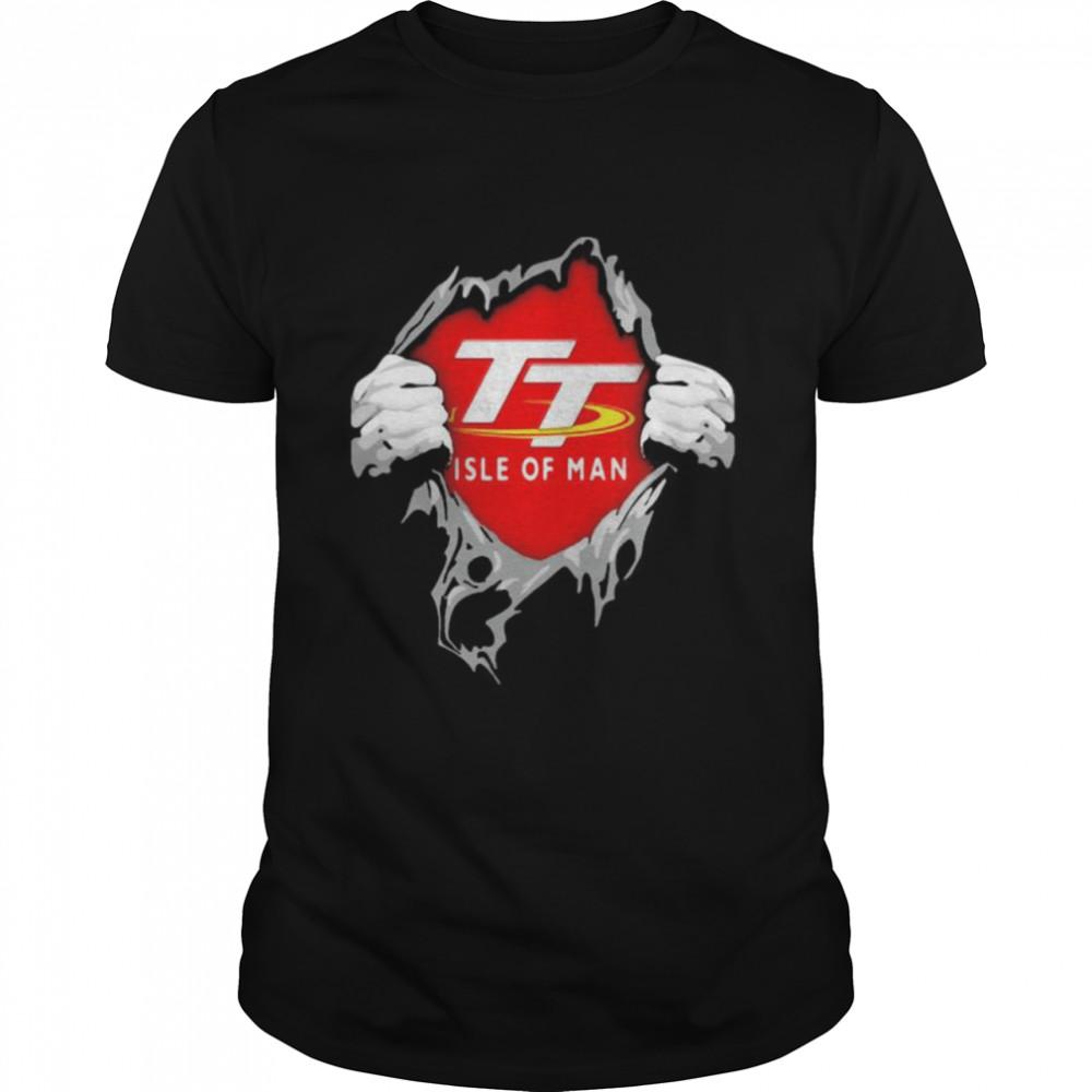 Hero With Logo Isle Of Man  Classic Men's T-shirt