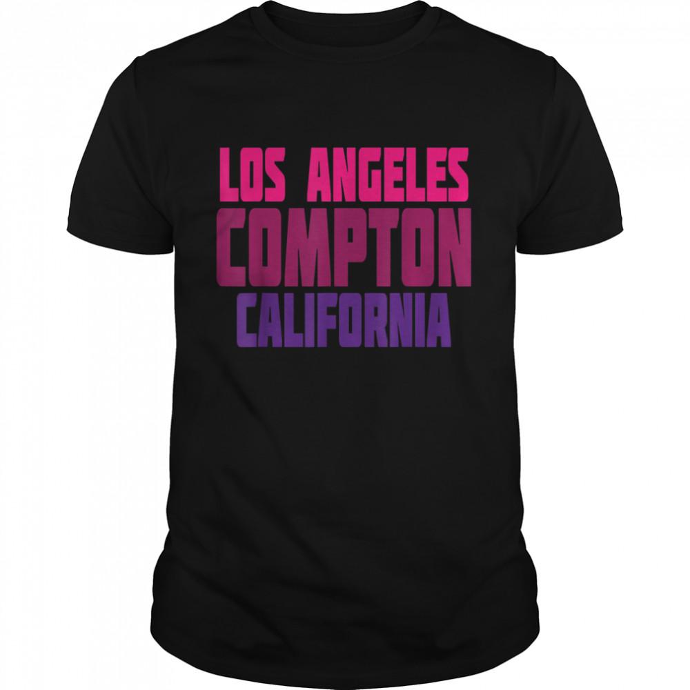 Los Angeles Compton California Retro Vintage Typography  Classic Men's T-shirt