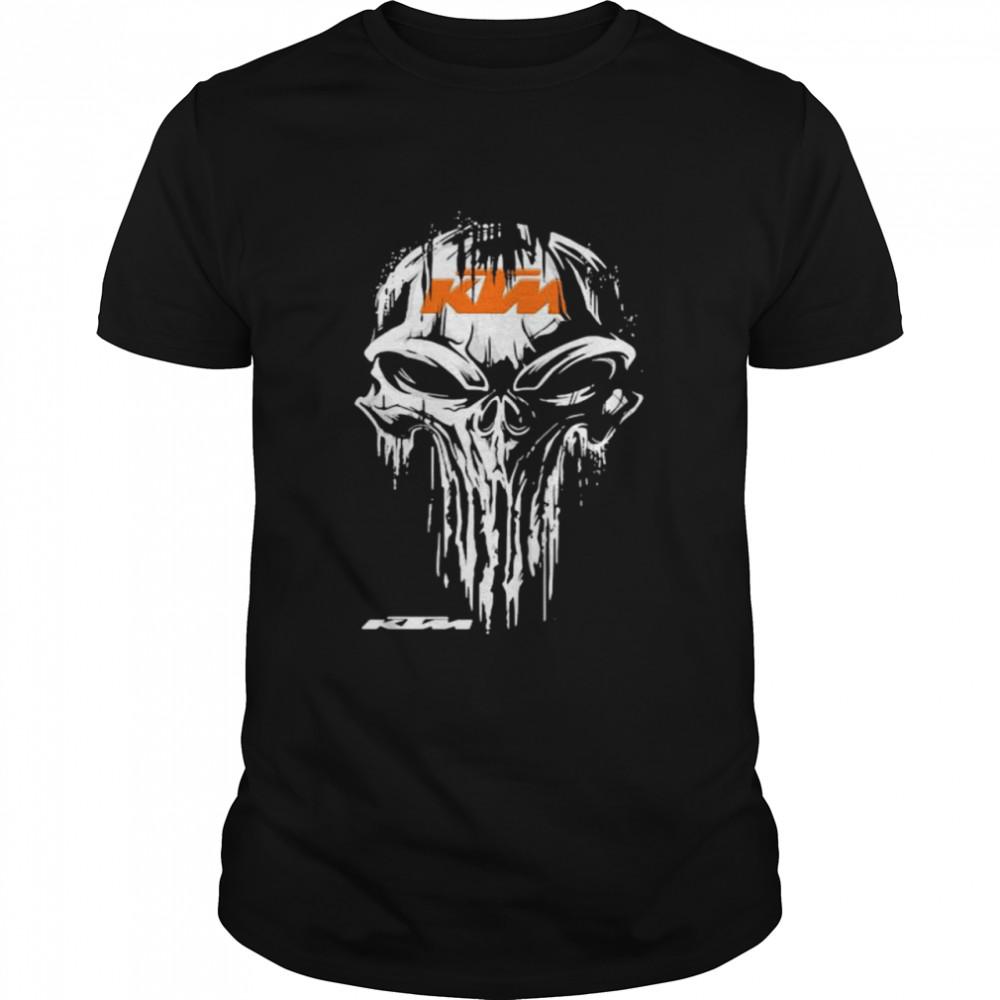 Punisher With Logo Ktm Orange  Classic Men's T-shirt