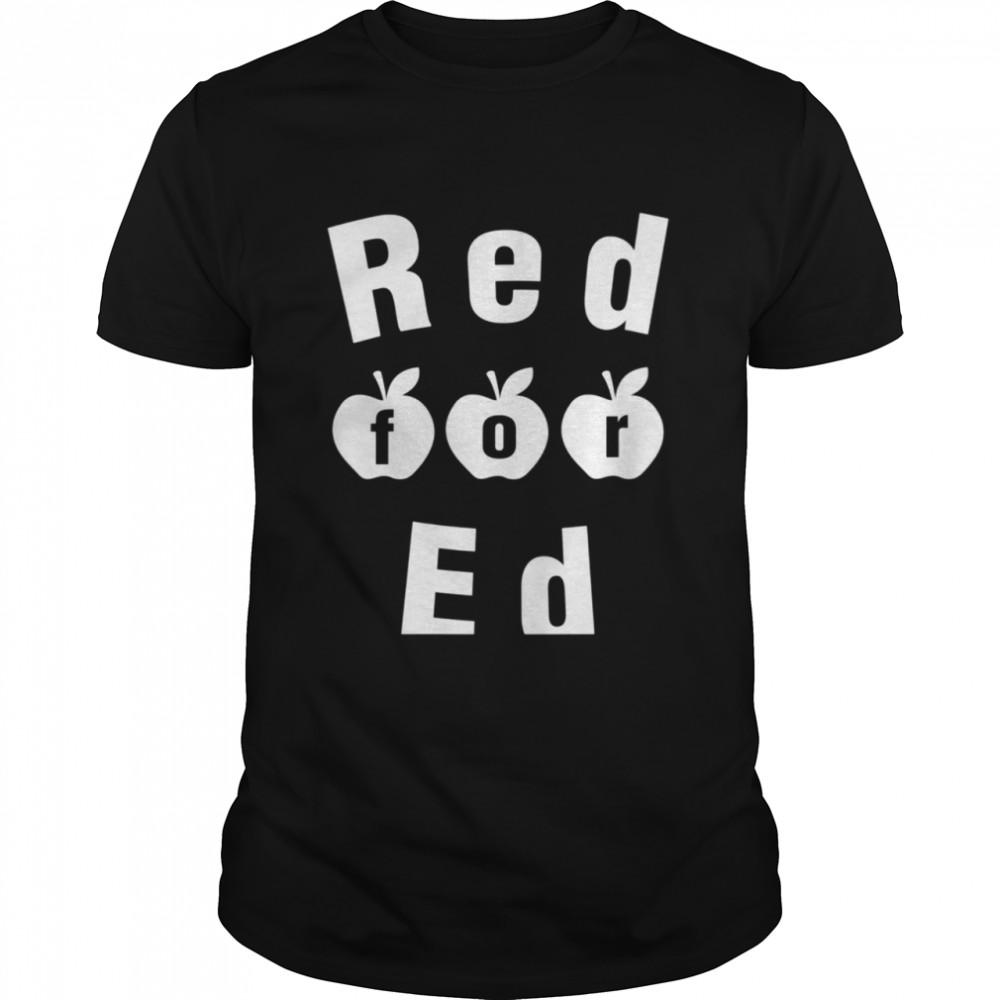 Teacher Red For Ed Red4Ed  Classic Men's T-shirt