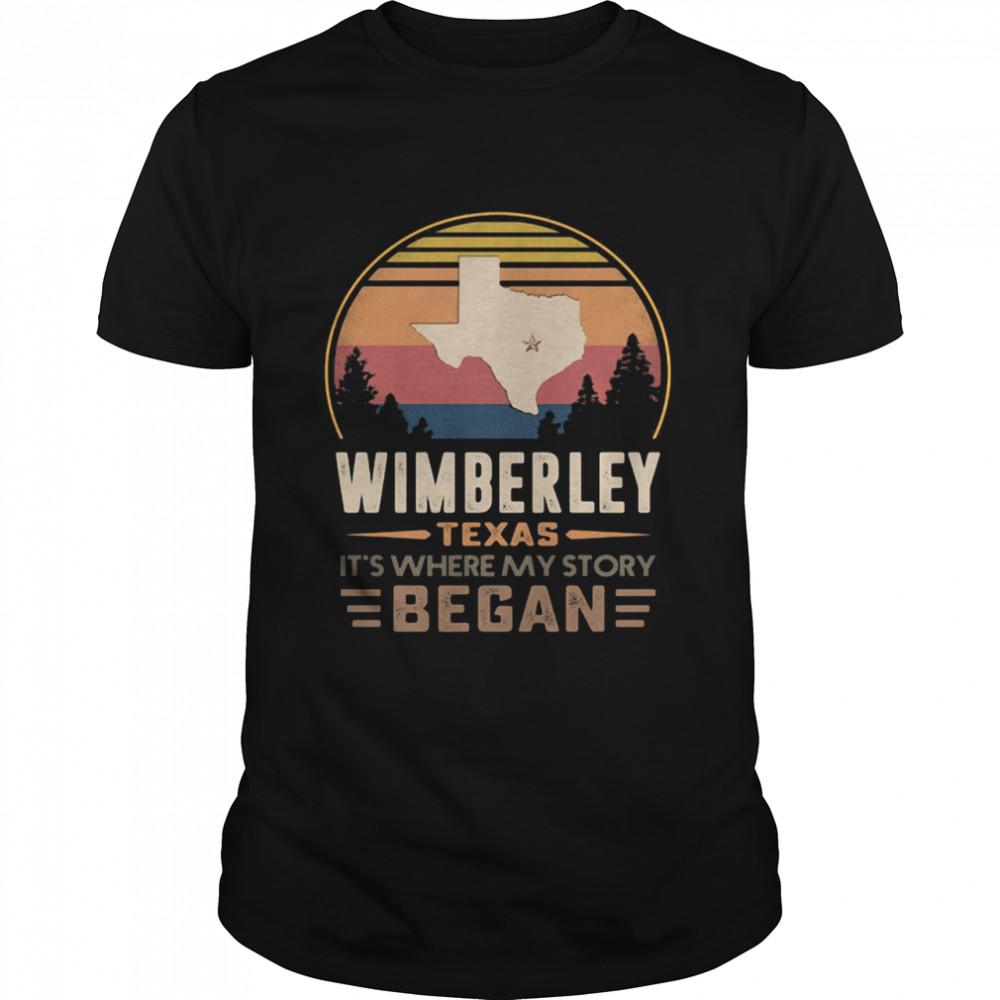 Wimberley Texas It's Where My Story Began Vintage  Classic Men's T-shirt