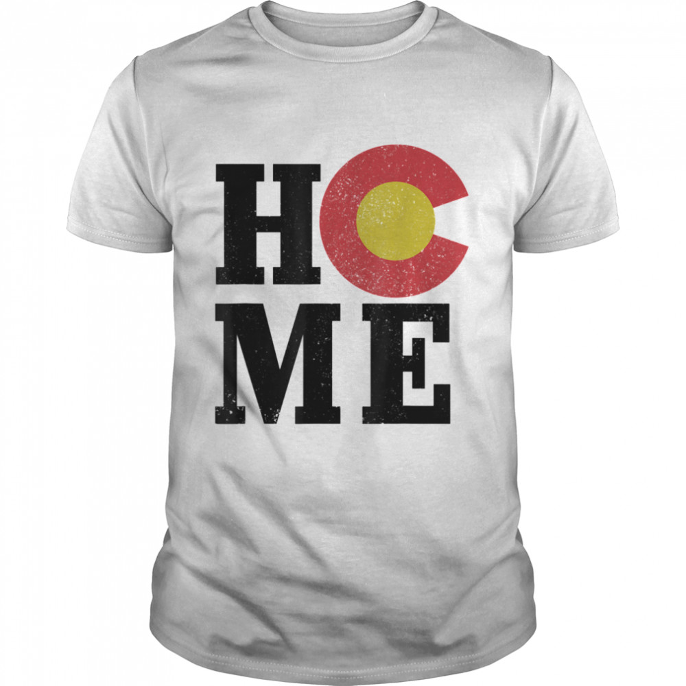 Colorado Flag HOME Pride Vintage Colorado  Classic Men's T-shirt
