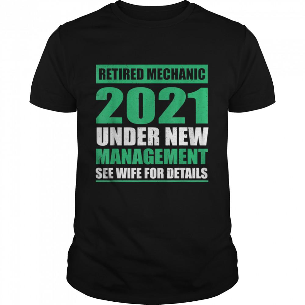 Great 2021 Retired Mechanic Saying Pension  Classic Men's T-shirt