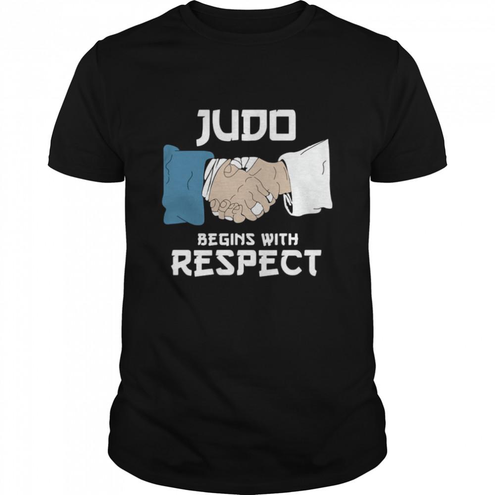 Judo Begins With Respect T-shirt Classic Men's T-shirt