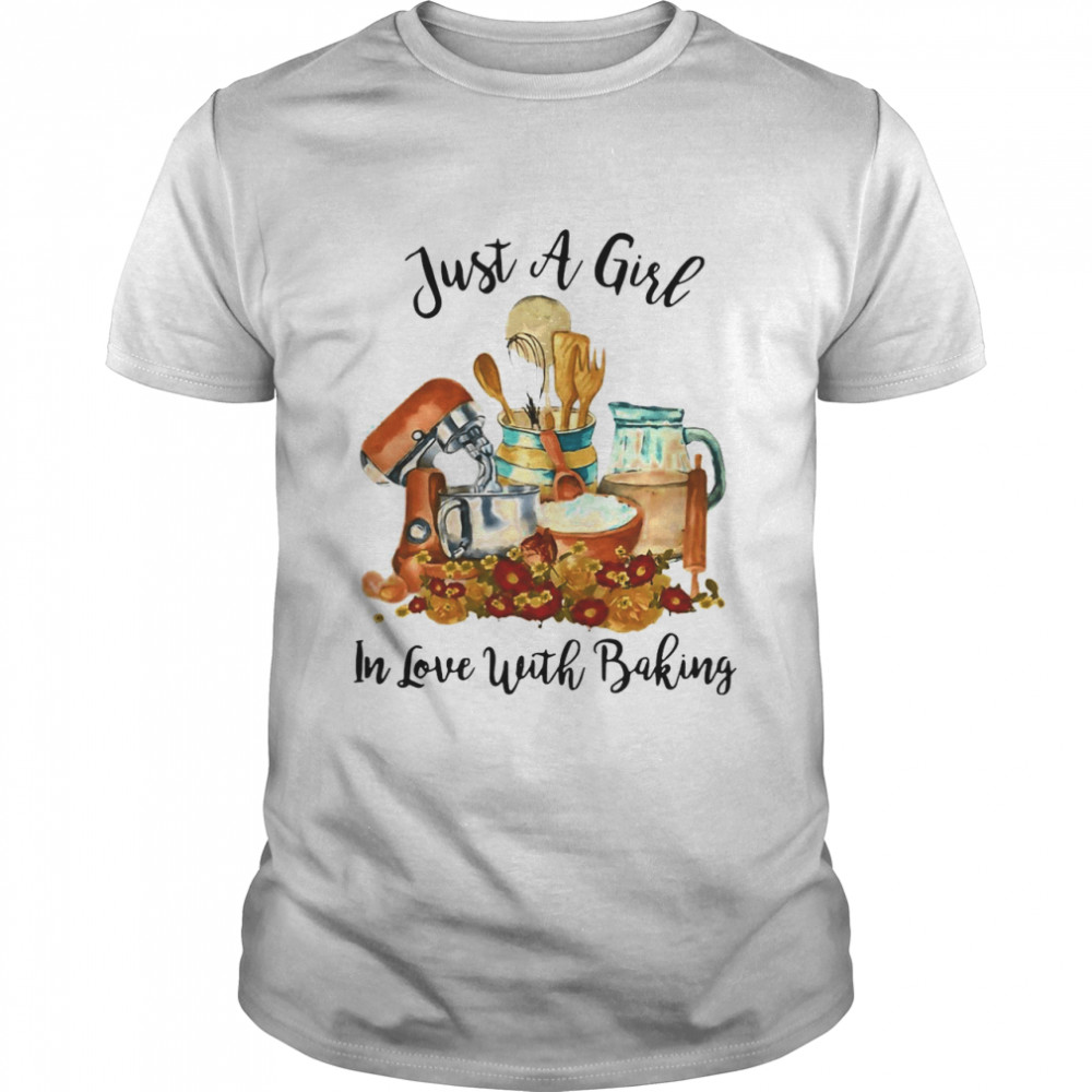 Just A Girl In Love With Baking T-shirt Classic Men's T-shirt